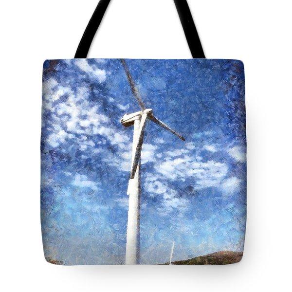 Wind Turbines Tote Bag