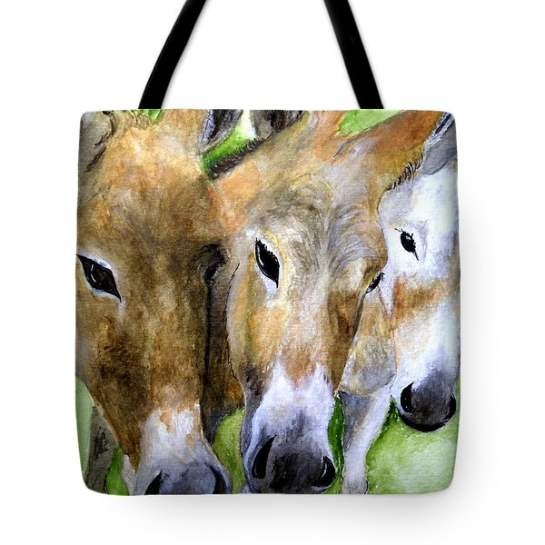 3 Wise Mules Tote Bag