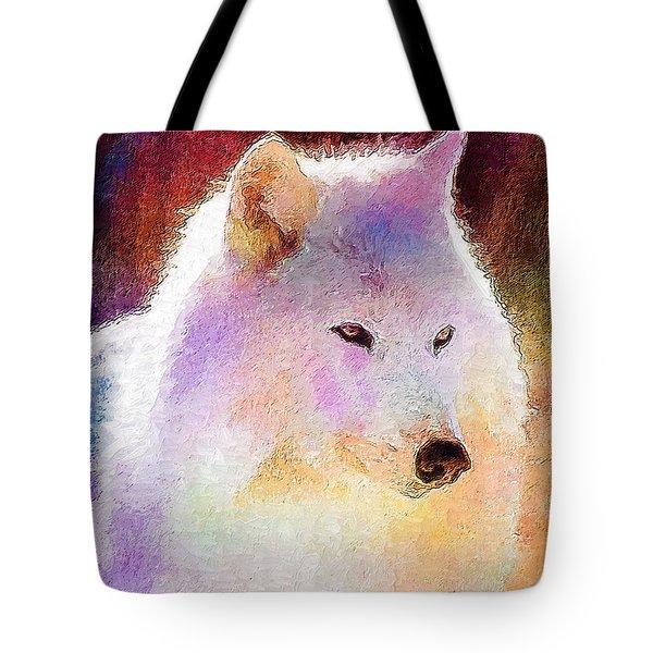 Wolf Tote Bag by Elena Kosvincheva