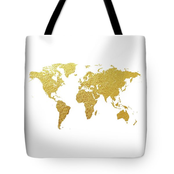 Map of the world tote bags fine art america world map gold foil tote bag gumiabroncs Images