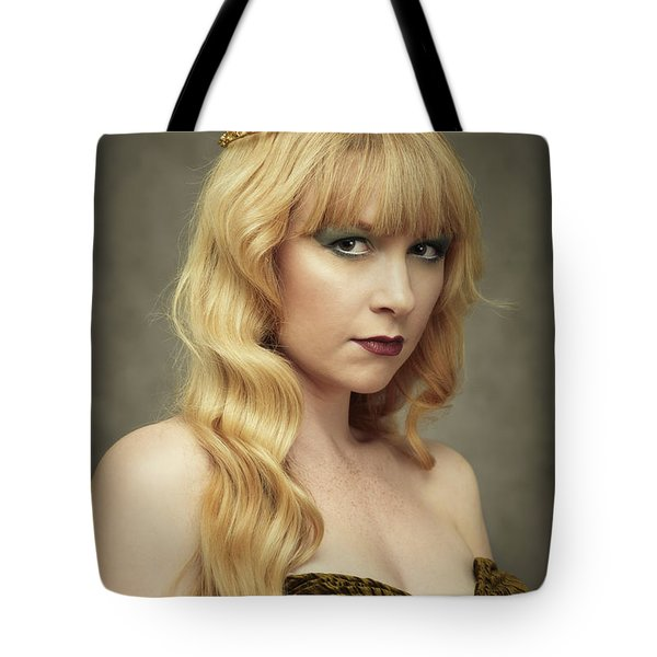 Young Woman Wearing Crown Tote Bag
