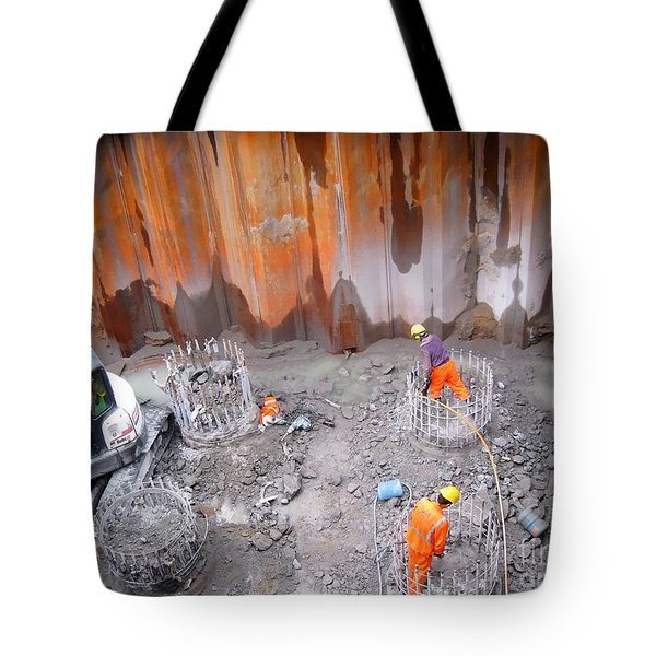 Yury Bashkin Construction Tote Bag by Yury Bashkin