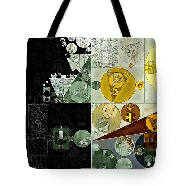 Tote Bag featuring the digital art Abstract Painting - Smoky Black by Vitaliy Gladkiy