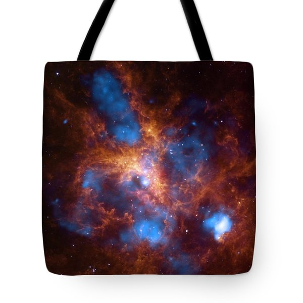 Tote Bag featuring the digital art 30 Doradus And The Growing Tarantula Within by Artistic Panda