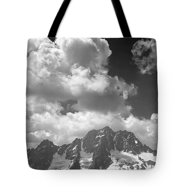 304638 Clouds Over Mt. Stuart Bw Tote Bag