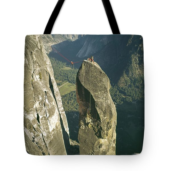 306540 Climbers On Lost Arrow 1967 Tote Bag
