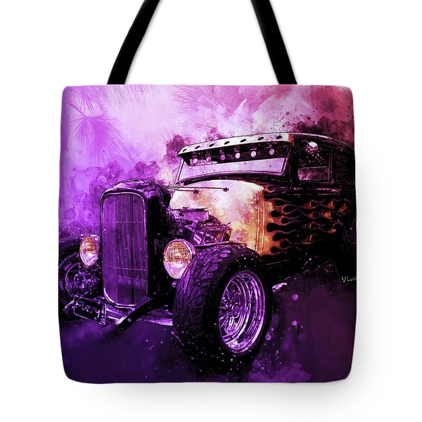 31 Ford Model A Fiery Hot Rod Classic Tote Bag