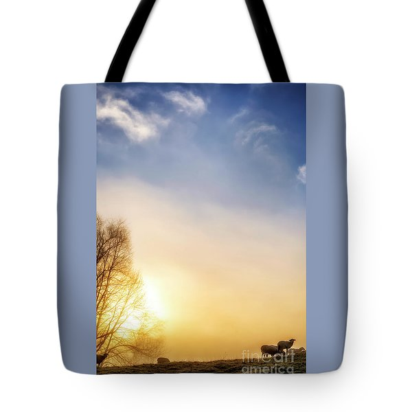 Tote Bag featuring the photograph Misty Mountain Sunrise by Thomas R Fletcher