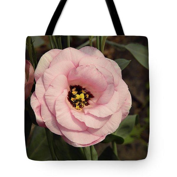 Pink Flowers Tote Bag by Elvira Ladocki