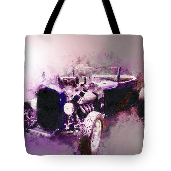 32 Ford Low Boy Roadster Watercoloured Sketch Tote Bag