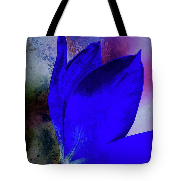 Texture Flowers Tote Bag