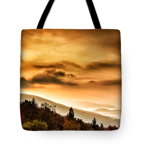Allegheny Mountain Sunrise #33 Tote Bag