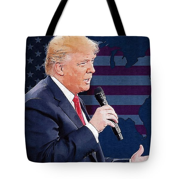 Donald Trump Tote Bag by Elena Kosvincheva