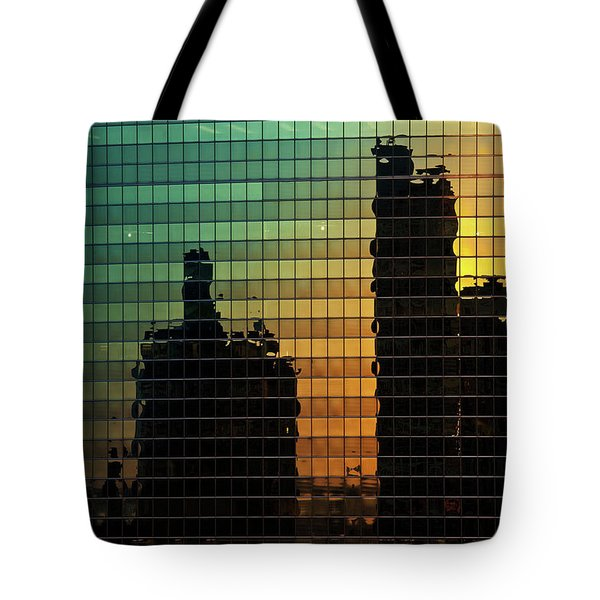 333 Wacker Reflecting Chicago Tote Bag by Steve Gadomski