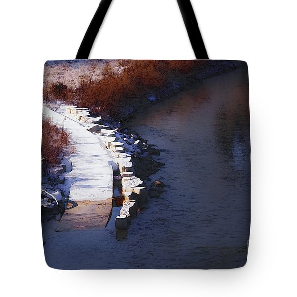 Tote Bag featuring the digital art 33rd And Canal by David Blank