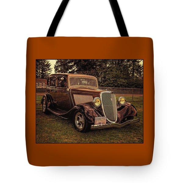 Cool 34 Ford Four Door Sedan Tote Bag