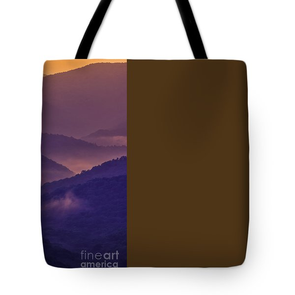 Allegheny Mountain Sunrise Tote Bag