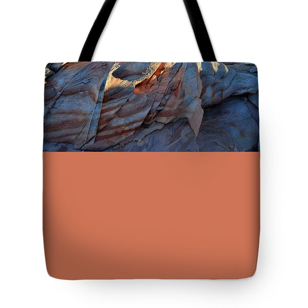 Tote Bag featuring the photograph Colorful Sandstone In Valley Of Fire by Ray Mathis
