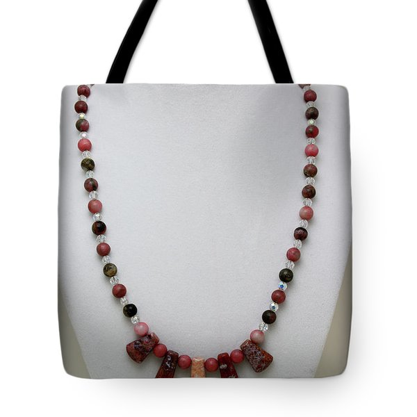 3541 Rhodonite And Jasper Necklace Tote Bag by Teresa Mucha
