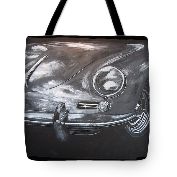 Tote Bag featuring the painting 356 Porsche Front by Richard Le Page