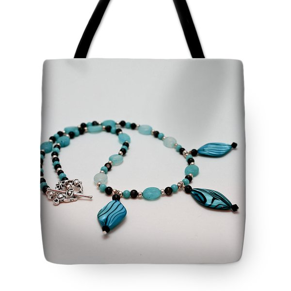 3564 Shell And Semi Precious Stone Necklace Tote Bag by Teresa Mucha