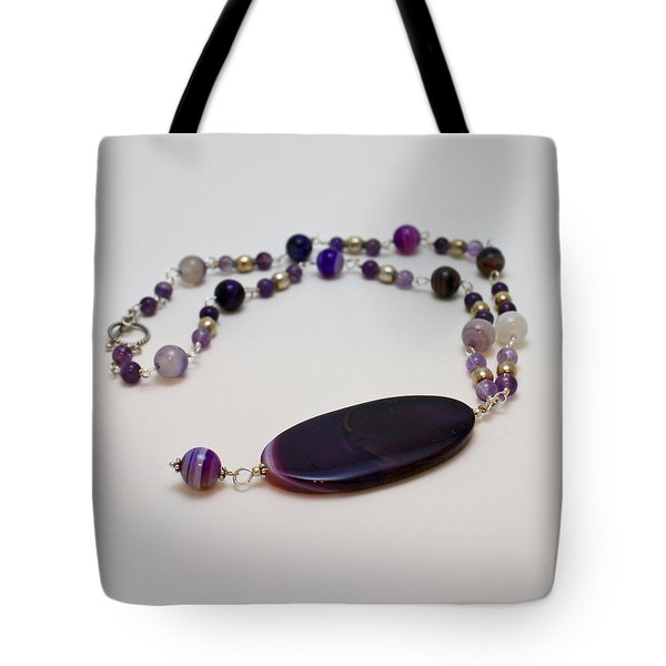 3573 Banded Agate Necklace  Tote Bag by Teresa Mucha