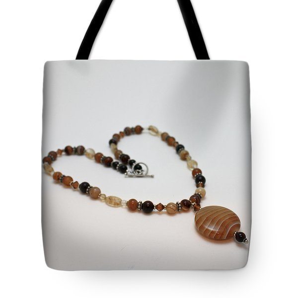 3574 Coffee Onyx Necklace Tote Bag by Teresa Mucha