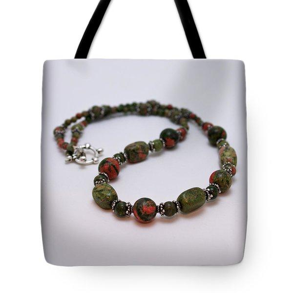 3579 Unakite Necklace  Tote Bag by Teresa Mucha
