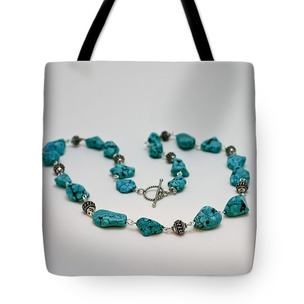 3599 Turquoise Necklace Tote Bag by Teresa Mucha