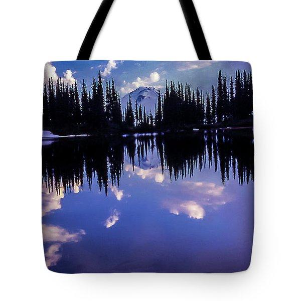 35mm Scan Of Image Lake And Glacier Peak Tote Bag