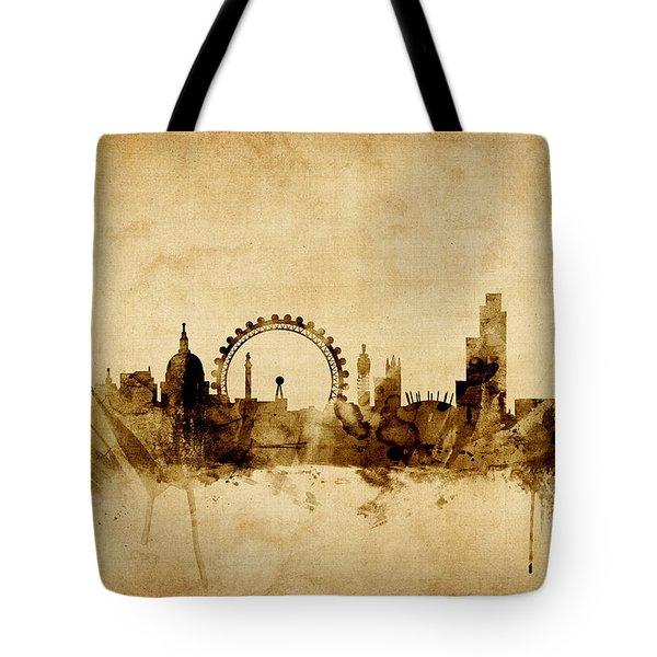 London England Skyline Tote Bag by Michael Tompsett