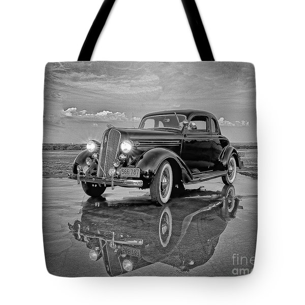 36 Plymouth Reflections Pencil Sketch Tote Bag