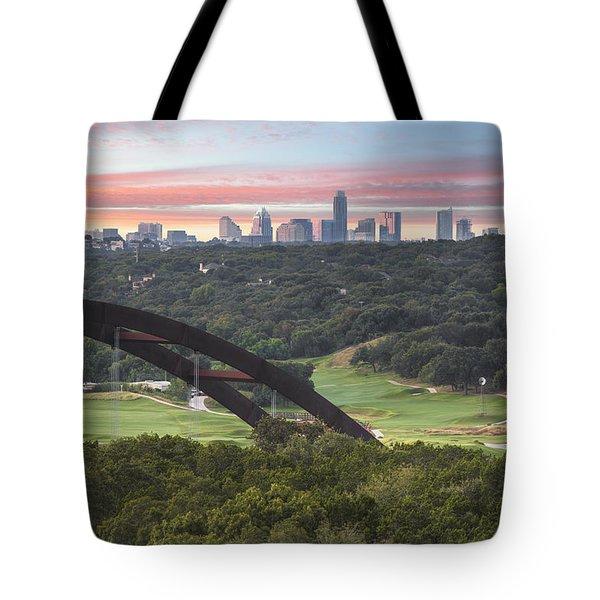 360 Bridge And Downtown Austin 2 Tote Bag