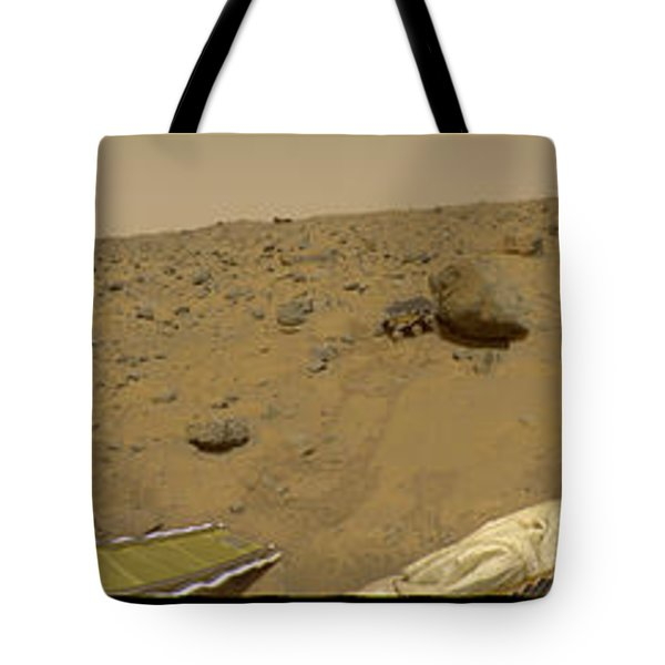 360 Degree Panorama Mars Pathfinder Landing Site Tote Bag