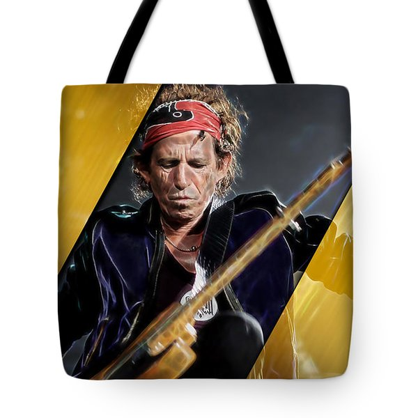 Keith Richards Collection Tote Bag by Marvin Blaine