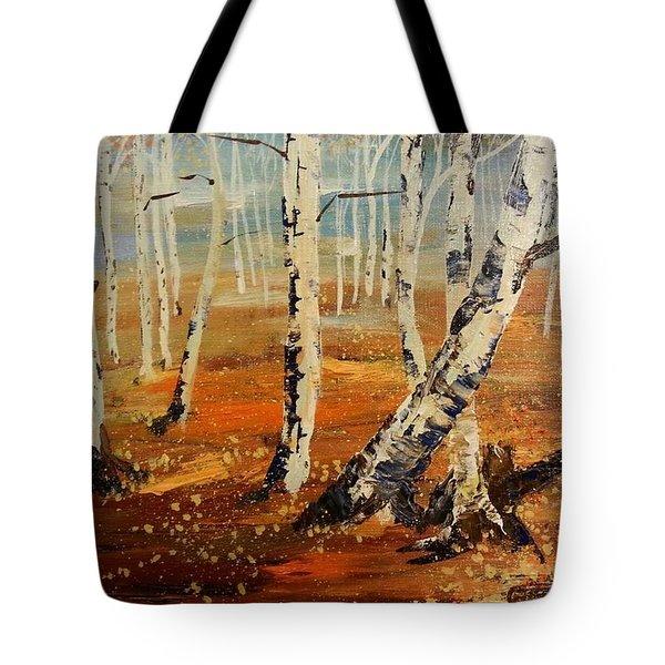 #38 Last Leaves Tote Bag