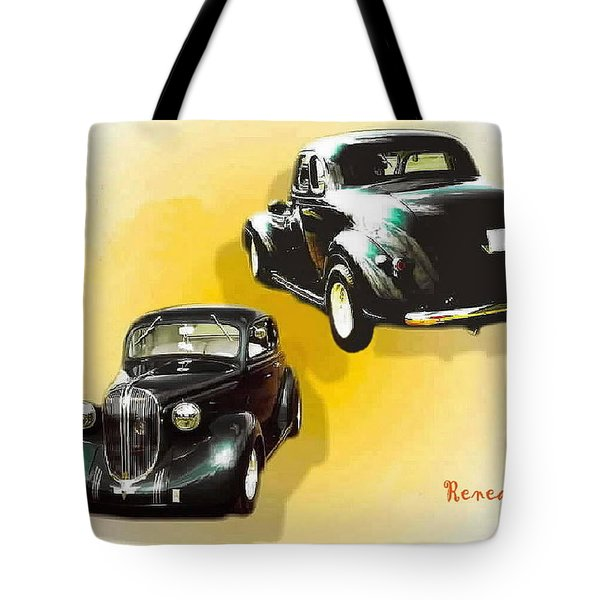 '38 Plymouth Tote Bag by Sadie Reneau