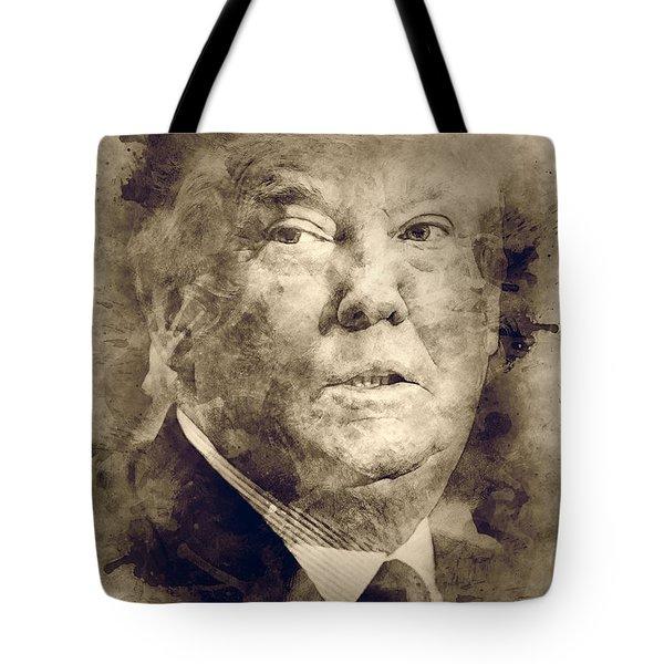 Donald Trump Tote Bag by Elena Kosvincheva