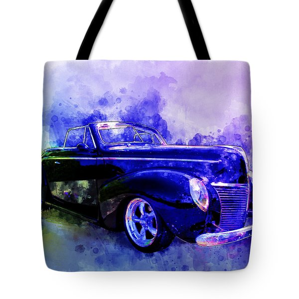 39 Mercury Convertible Watercolour Sketch Tote Bag