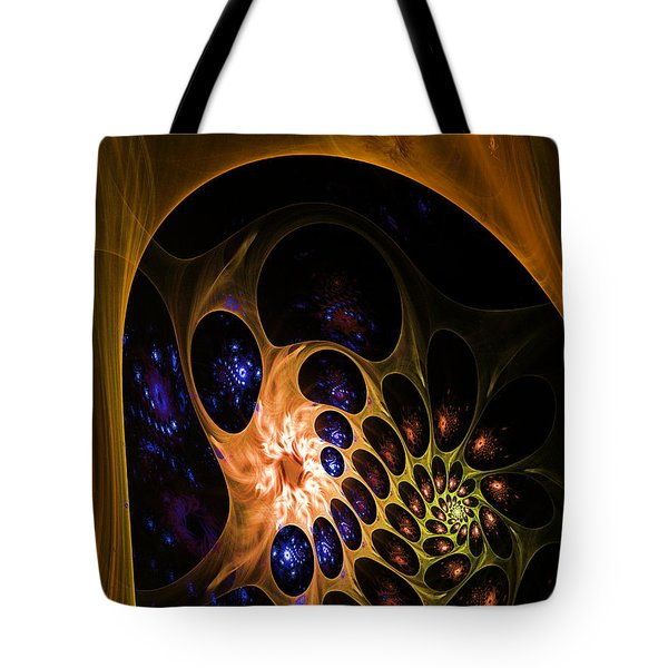 3d Chaotica Tote Bag by Ernst Dittmar