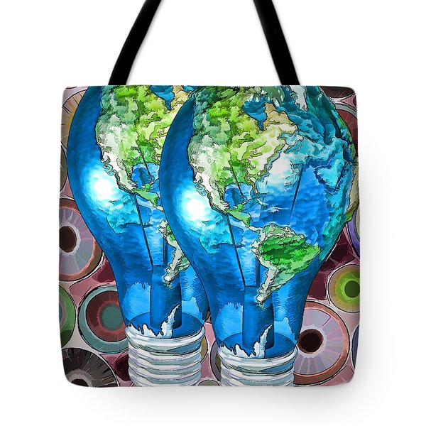 3d Render Of Planet Earth 15 Tote Bag by Lanjee Chee