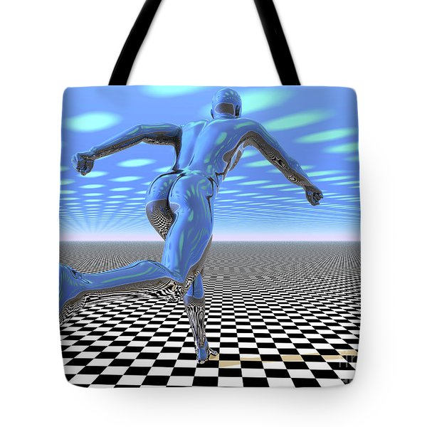 3d Runner Tote Bag