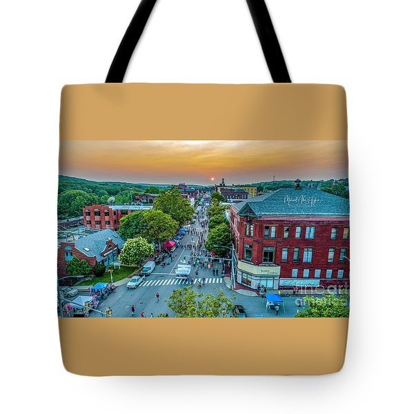 Tote Bag featuring the photograph 3rd Thursday Sunset by Michael Hughes