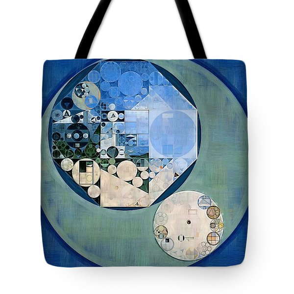 Tote Bag featuring the photograph Abstract Painting - Bermuda Grey by Vitaliy Gladkiy