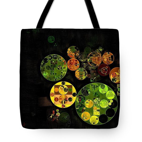 Tote Bag featuring the digital art Abstract Painting - Black by Vitaliy Gladkiy