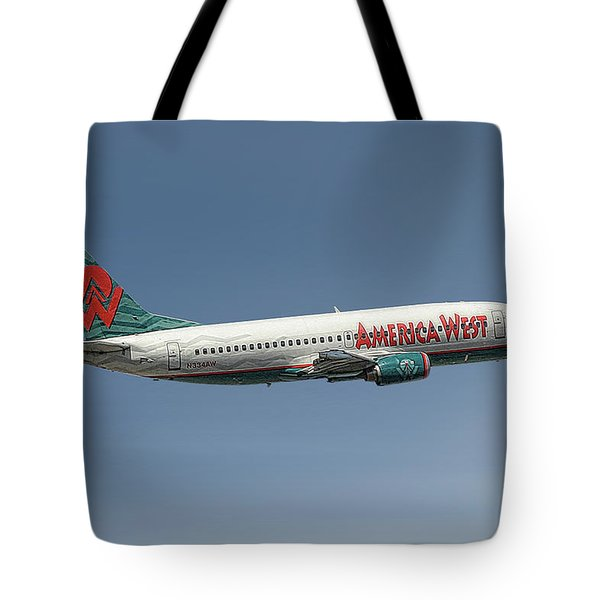 America West Boeing 737-300 Tote Bag