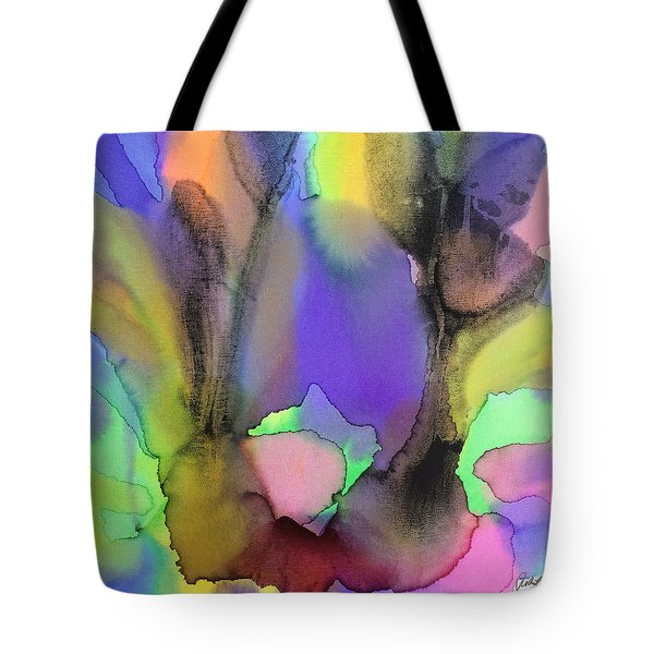 4 Art Abstract Painting Modern Color Signed Robert R Erod Tote Bag