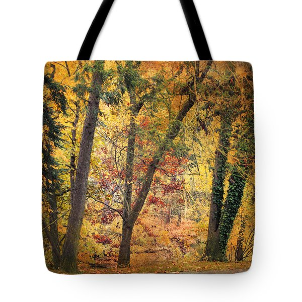 Autumn Canvas Tote Bag by Jessica Jenney