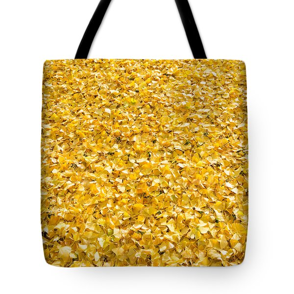 Tote Bag featuring the photograph Autumn Leaves by Hans Engbers
