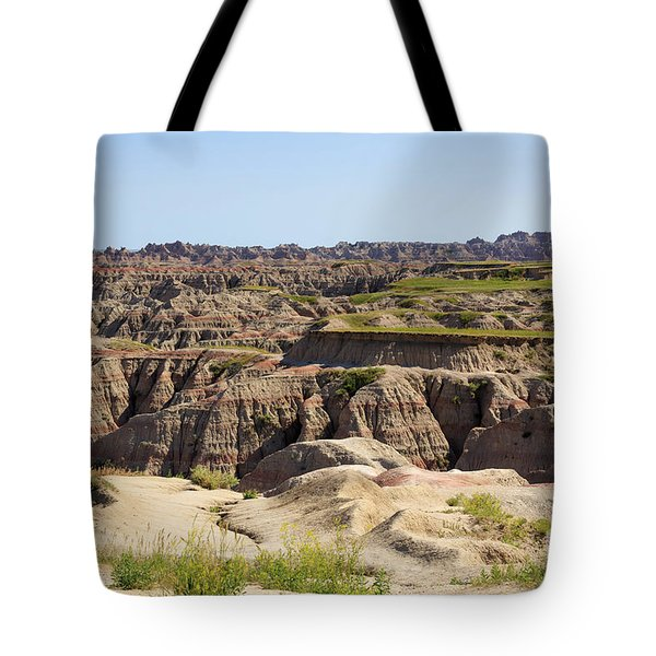 Badlands National Park South Dakota Tote Bag by Louise Heusinkveld